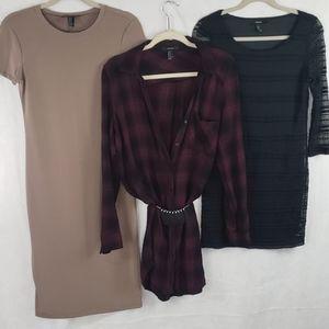 3 piece FOREVER 21 dresses small/medium